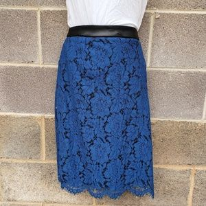 NEW Royal Blue Lace Overlay Skirt